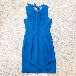 J Crew Suiting Tie-Neck Dress with Pockets